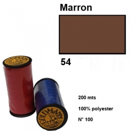 Fil polyester goldmann 054 marron