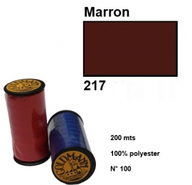 Fil polyester goldmann 217 marron