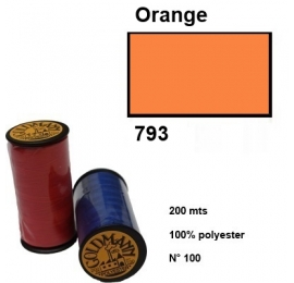 Fil goldmann 200m 100% polyester 793 orange