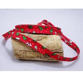 Biais Sapin de Noël Rouge