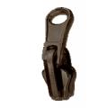 Fermeture séparable réversible noir/bronze