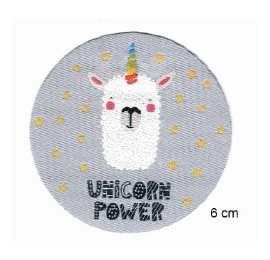 Écussons enfant rond unicorn power