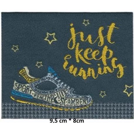 Écusson Running Just keep running