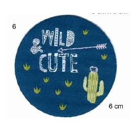 Écussons enfant rond fléche cactus