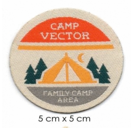 Écussons Nature sauvage Camp Vector