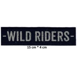Écusson en longeur Wild riders