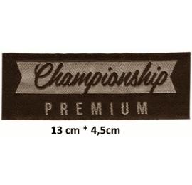 Écusson en longeur Championship