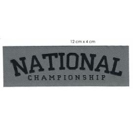 Écusson en longeur National championship