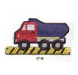 écussons dessins camion bleu et rouge