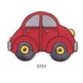 écussons dessins auto rouge