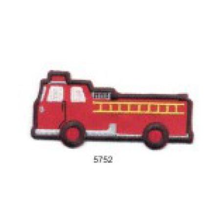 écussons dessins Camion de Pompiers Rouge