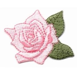 écussons fleurs brodées Rose