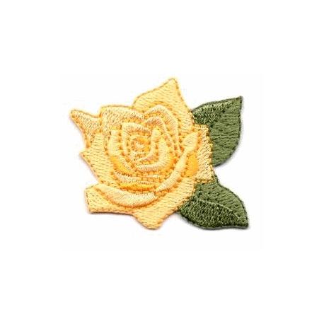 écussons fleurs brodées Jaune