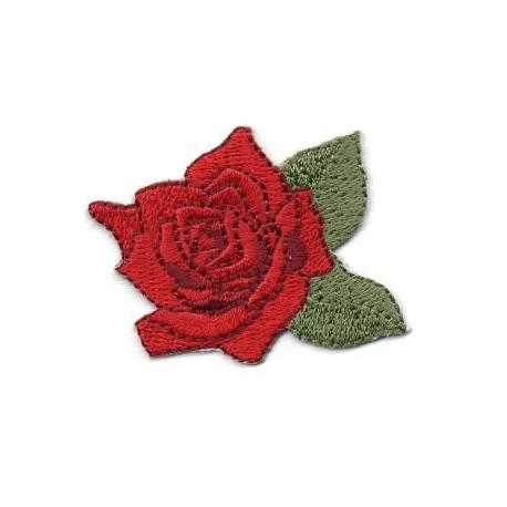 Écussons Rose en fleur Rouge