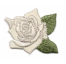 Écussons Rose en fleur Écru