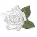 Écussons Rose en fleur Blanc