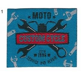 Écusson Motorcycles 1 clés plates