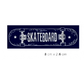Écusson sérigraphié Skateboard