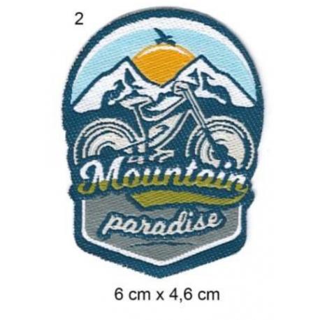 Écusson Vélo Moutain Paradise