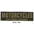Écussons long marron 2 motorcycles