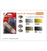Boutons pressions sport et camping