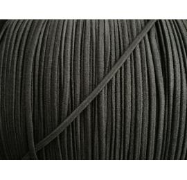 Élastique arrondi 2 mm noir extra souple