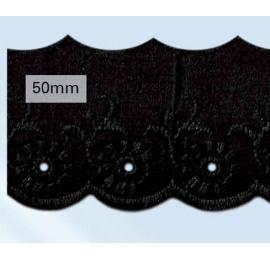 Broderie Anglaise 50 mm noir