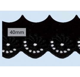 Broderie Anglaise 40 mm noir
