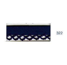 Biais piquot uni 322 bleu marine