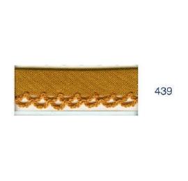 Biais piquot uni 439 moutarde