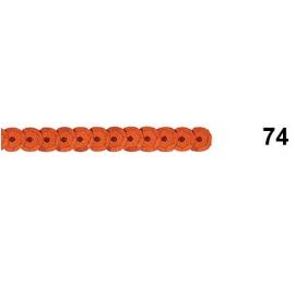 Ruban paillettes rondes cuivre 74