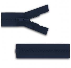 Fermeture séparable réversible Bleu Marine/arg