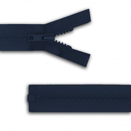 Fermeture séparable réversible Bleu marine/bronze