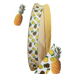 Biais imprimé motif : Ananas