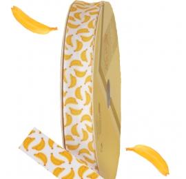 Biais imprimé motif : Banane