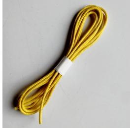 Lacets coton ciré rond jaune