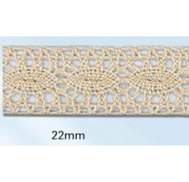Dentelle coton 22 mm