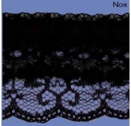 Dentelle nylon triple 50 mm noir