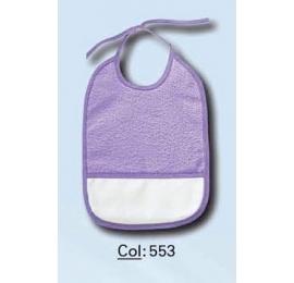 Bavoir à broder 553 violet
