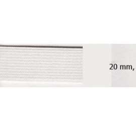 Elastique souple plat 20 mm blanc