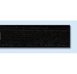 Elastique souple plat 15 mm noir