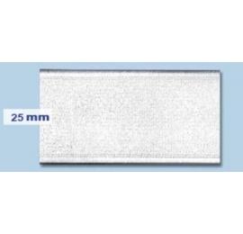 Elastique plat rigide 25 mm blanc
