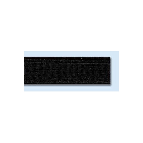 Elastique plat rigide 15 mm noir