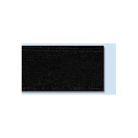 Elastique plat rigide 25 mm noir