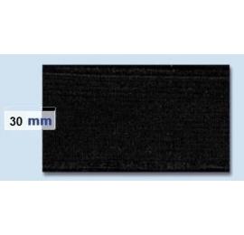 Elastique plat rigide 30 mm noir
