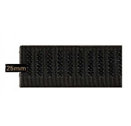 Elastique gros grain 25 mm noir
