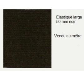 Élastique large 50 mm noir