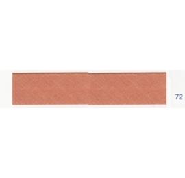 Biais unis brun rosé 72