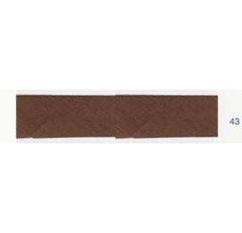 Biais unis marron chocolat 43