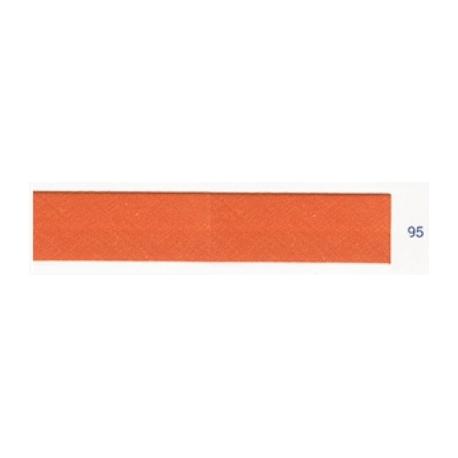 Biais unis orange foncé 95